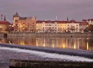 Vltava river sunset