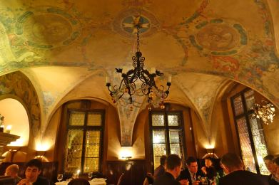 Prague U Malírù ceiling
