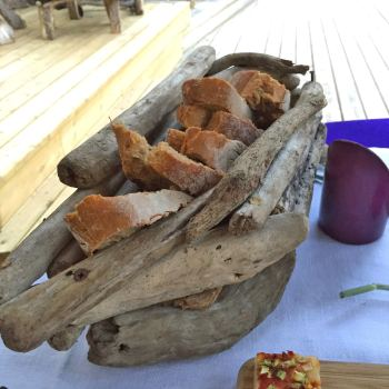 La Table de la Plage Murtoli bread basket