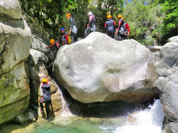 Corsica canyoning group