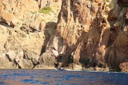 Scandola Nature Reserve tourist boat