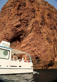 Scandola Nature Reserve tour boat rocks