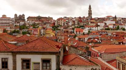 Porto buildings on a hill
