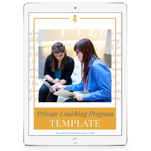 iPad with workbook cover - Private Coaching Program