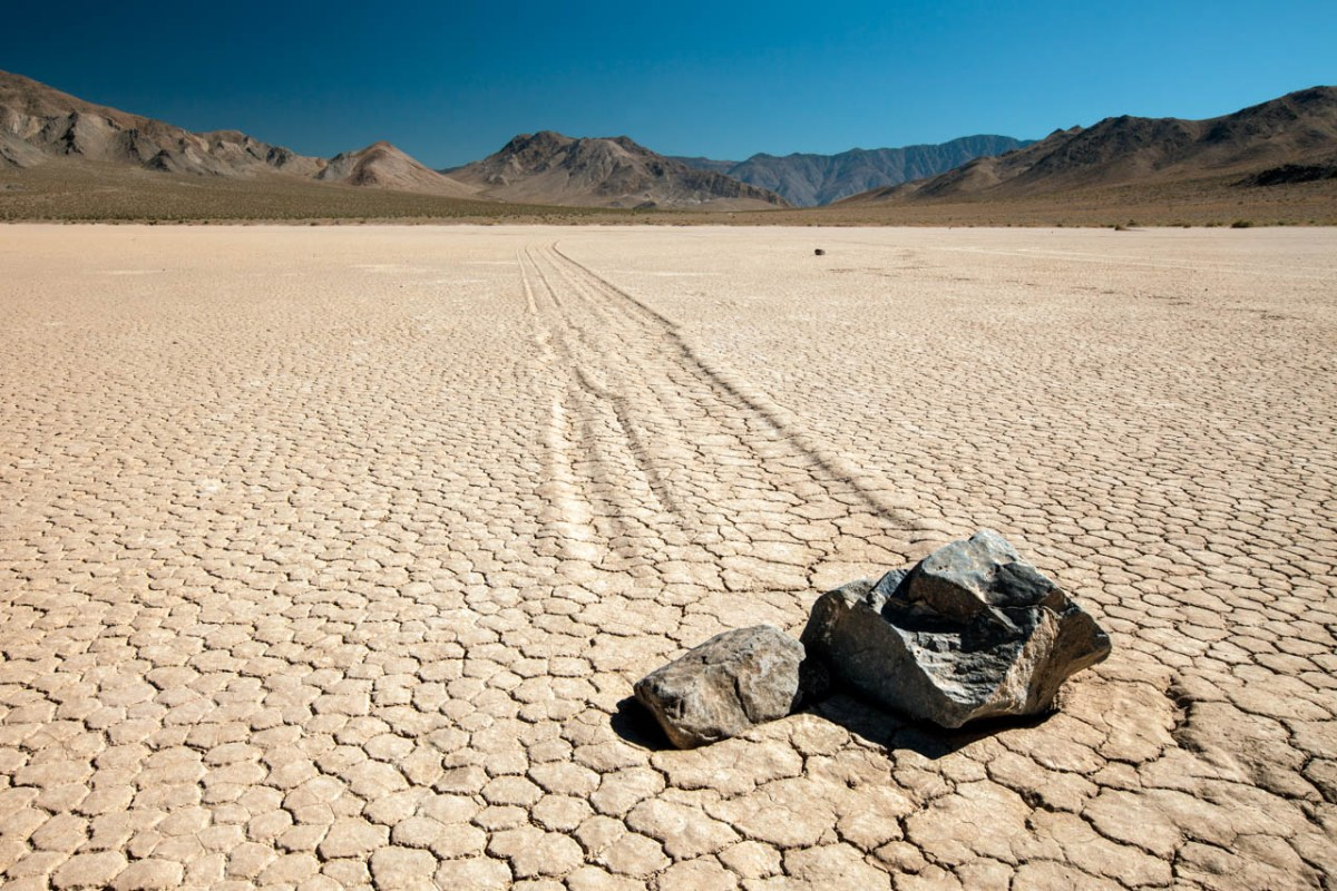 Death Valley California Racetrack Playa Racing Rocks