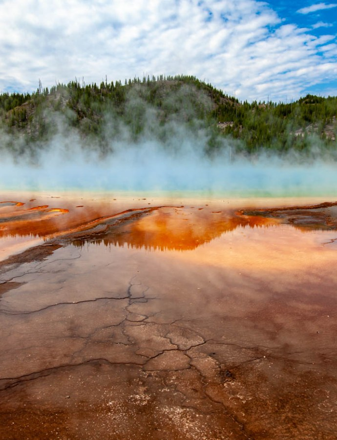 An Up Close and Personal View of the Grand Prismatic Spring in Yellowstone