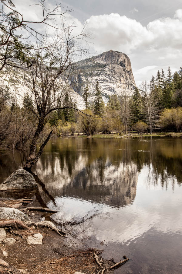 Reflection of Mount Watkin in Mirror Lake at Yosemite National Park #vezzaniphotography