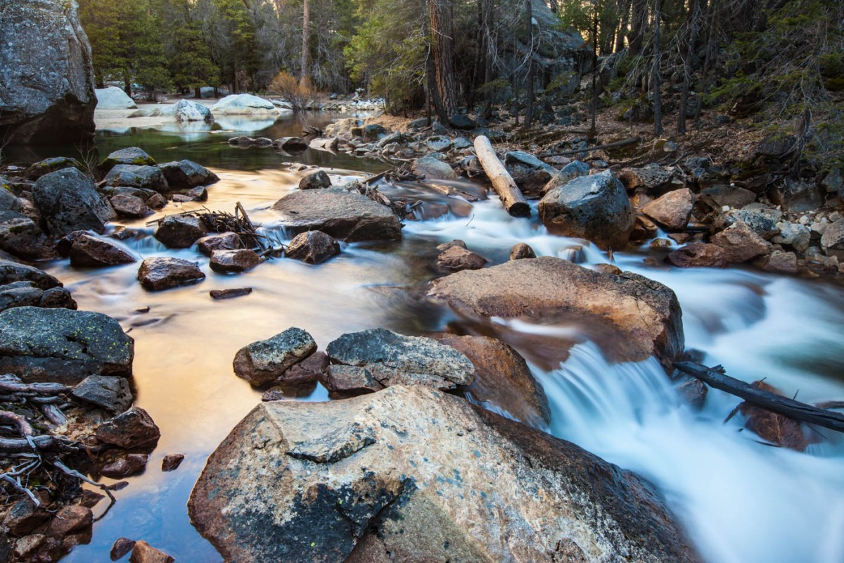 Tenaya Creek on the Mirror Lake Trail at Yosemite National Park #vezzaniphotography