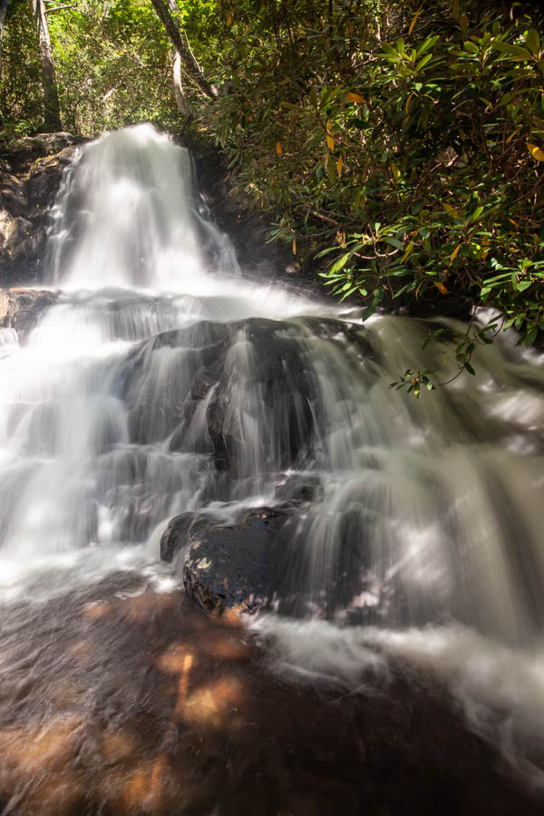 Hiking to Laurel Falls at Great Smoky Mountain National Park #vezzaniphotography