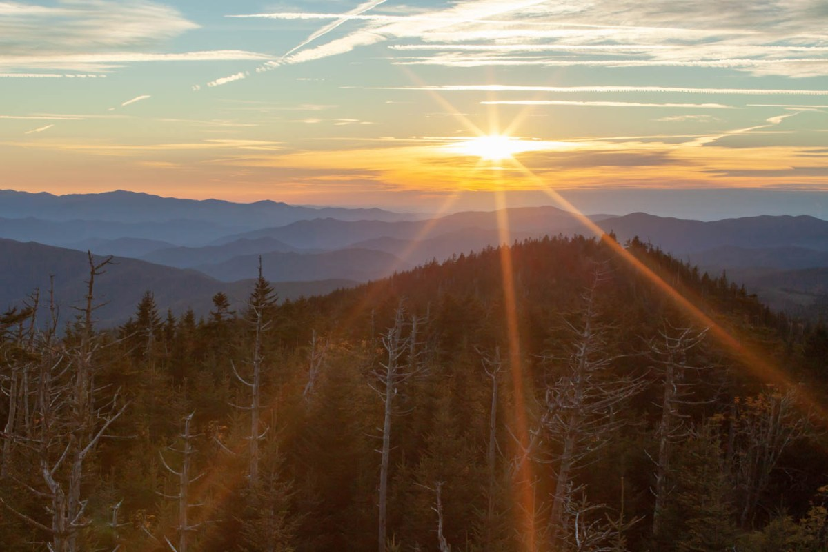 Clingmans Dome Sunset at Great Smoky Mountains National Park #vezzaniphotography