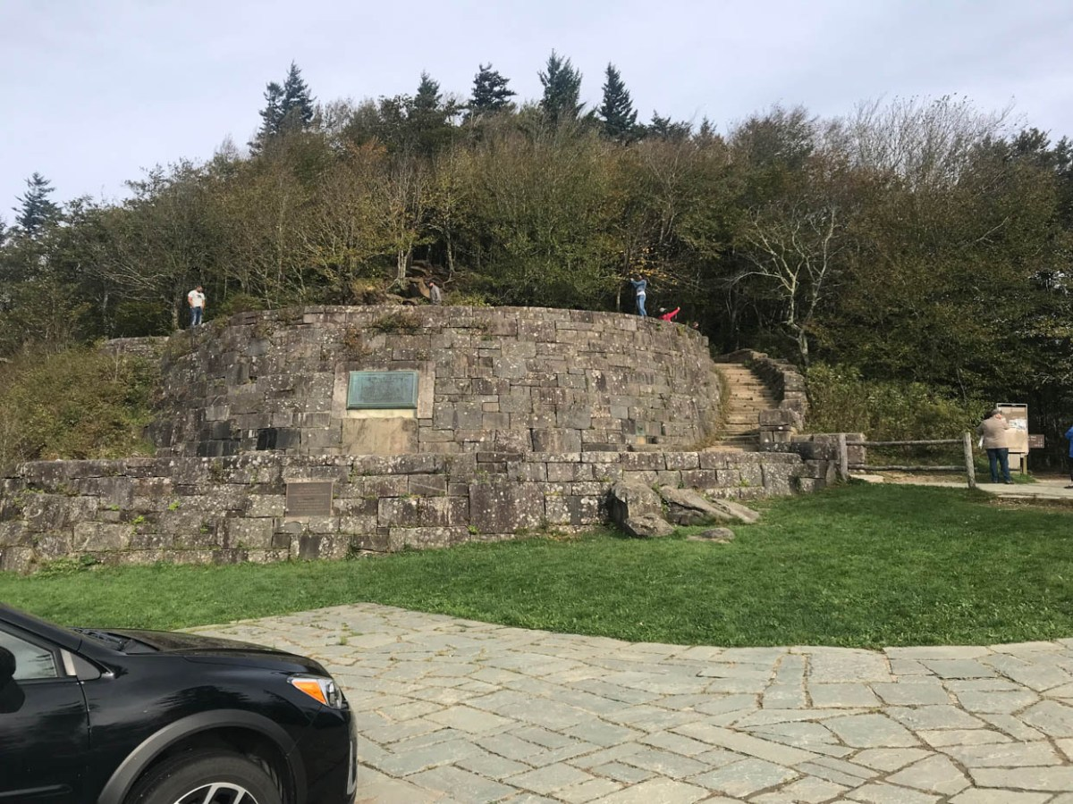 Rockefeller Memorial at Newfound Gap Overlook off of Newfound Road at Great Smoky Mountains National Park #vezzaniphotography