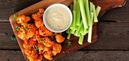 Vegan Cauliflower Buffalo Wings -