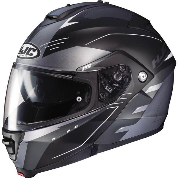 hjc is max 2 cormi modular helmet matte grey black white s