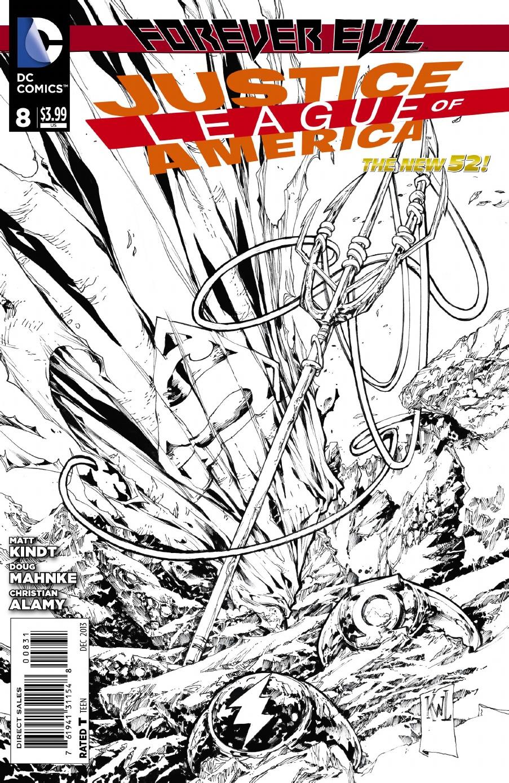 JLA 8 BW Cover