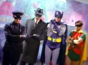 Kato, Green Hornet, Batman and Robin
