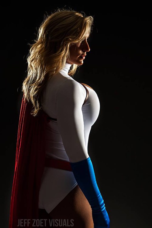 Power Girl side view