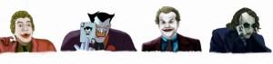 Cesar Romero, Mark Hamill, Jack Nicholson, Heath Ledger