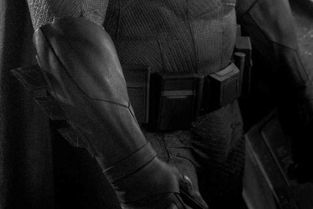 Close-up of Batsuit
