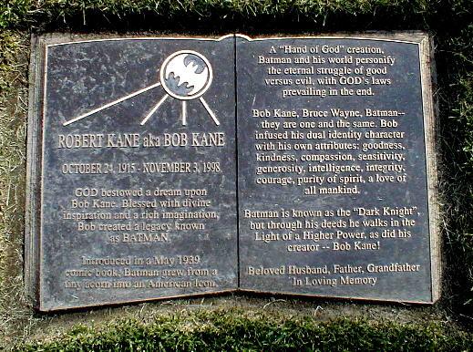 Bob Kane's Gravestone