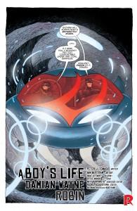 SECRET ORIGINS #4 - Damian Wayne as Robin and Dick Grayson as Batman ride off