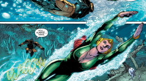 Secret Origins 5 - Mera - Mera swims to freedom