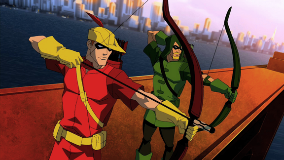 Arsenal and Green Arrow as seen on 'Young Justice'