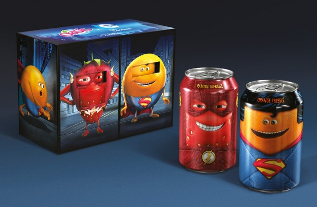 DC heroes juice cans 3