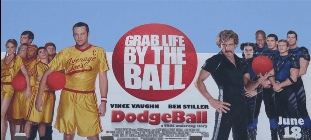 Porter on the top right in DodgeBall