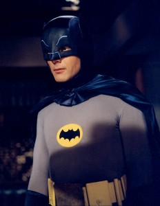 Adam West as the campy version of Batman