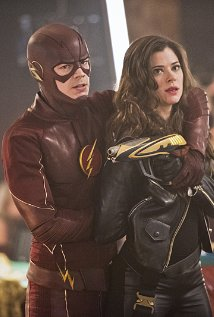 """The Flash -- """"Rogue Time"""" -- Image FLA116B_0129b -- Pictured (L-R): Grant Gustin as Barry Allen/Flash and Peyton List as Lisa Snart -- Photo: Dean Buscher/The CW -- © 2015 The CW Network, LLC. All rights reserved."""