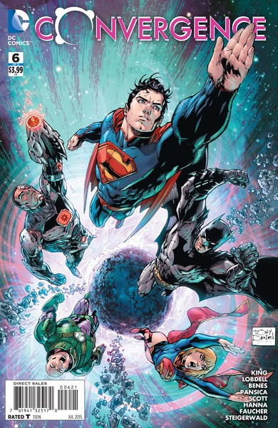 Convergence #6 variant cover (art by Tony Daniel with Mark Morales and Tomeu Morey)