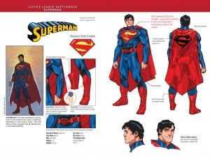 Superman from the New 52, based on designs by Jim Lee