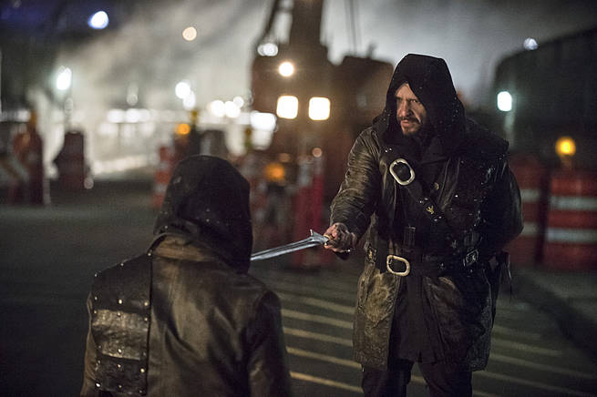 """Arrow -- """"My Name is Oliver Queen"""" -- Image AR323C_0323b -- Pictured: Matt Nable as Ra's al Ghul -- Photo: Cate Cameron/The CW -- © 2015 The CW Network, LLC. All Rights Reserved."""