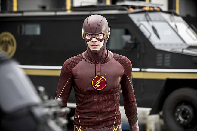 "The Flash -- ""Grodd Lives"" -- Image FLA121A_0079b -- Pictured: Grant Gustin as The Flash -- Photo: Cate Cameron/The CW -- © 2015 The CW Network, LLC. All rights reserved"