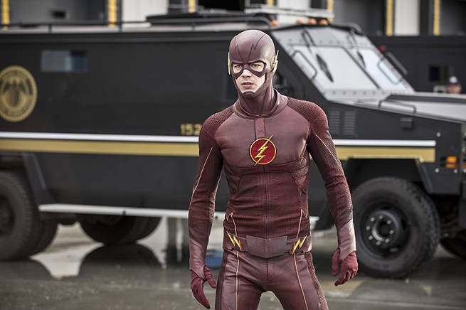 """The Flash -- """"Grodd Lives"""" -- Image FLA121A_0072b -- Pictured: Grant Gustin as The Flash -- Photo: Cate Cameron/The CW -- © 2015 The CW Network, LLC. All rights reserved."""