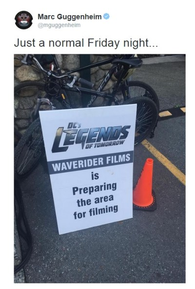 legend of tomorrow tweet waverider