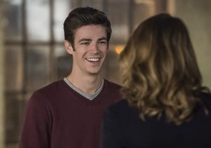 "The Flash -- ""The Fury of Firestorm"" -- FLA204A_0023b -- Pictured (L-R): Grant Gustin as Barry Allen and Shantel VanSanten as Patty Spivot -- Photo: Cate Cameron /The CW -- © 2015 The CW Network, LLC. All rights reserved."