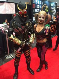 With Harley Quinn