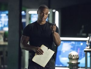 "Arrow -- ""Brotherhood"" -- Image AR407A_0065b.jpg -- Pictured: David Ramsey as John Diggle -- Photo: Dean Buscher/The CW -- © 2015 The CW Network, LLC. All Rights Reserved."