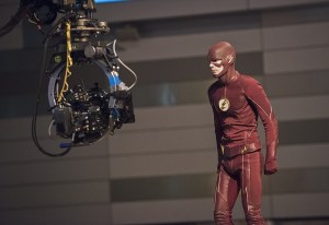 """The Flash -- """"Enter Zoom"""" -- Image FLA206A_0291b.jpg -- Pictured: Grant Gustin as The Flash -- Photo: Dean Buscher/The CW -- © 2015 The CW Network, LLC. All rights reserved."""