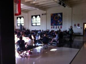 Rosary Students Praying