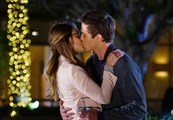 Kara and Adam enjoy a kiss