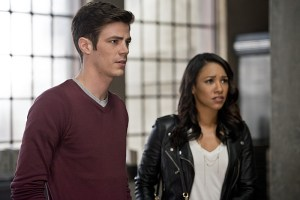 "The Flash -- ""The Reverse Flash Returns"" -- Image FLA211a_0180b -- Pictured (L-R): Grant Gustin as Barry Allen and Candice Patton as Iris West -- Photo: Diyah Pera/The CW -- © 2016 The CW Network, LLC. All rights reserved."