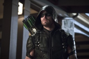 "Arrow -- ""Blood Debts"" -- Image AR410a_0227b.jpg -- Pictured: Stephen Amell as The Arrow -- Photo: Katie Yu/ The CW -- © 2015 The CW Network, LLC. All Rights Reserved."
