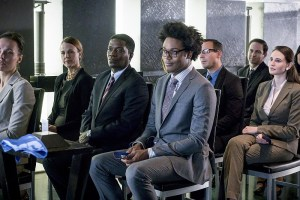 """Arrow -- """"Unchained"""" -- Image AR412B_0389b.jpg -- Pictured (L-R): Dean Monroe Mckenzie as Dennis and Echo Kellum as Curtis Holt -- Photo: Liane Hentscher/ The CW -- © 2016 The CW Network, LLC. All Rights Reserved."""