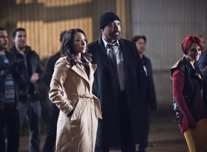 "The Flash -- ""Fast Lane"" -- Image: FLA212A_0257b.jpg -- Pictured (L-R): Candice Patton as Iris West and Jesse L. Martin as Detective Joe West -- Photo: Dean Buscher/The CW -- © 2016 The CW Network, LLC. All rights reserved."
