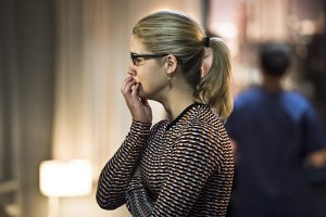 """Arrow -- """"Canary Cry"""" -- Image AR419a_0008b.jpg -- Pictured: Emily Bett Rickards as Felicity Smoak -- Photo: Dean Buscher/The CW -- © 2016 The CW Network, LLC. All Rights Reserved."""