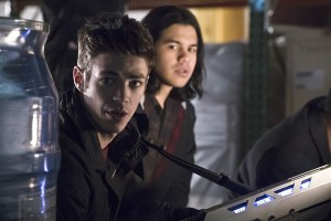"The Flash -- ""Back to Normal"" -- Image: FLA219a_0108b.jpg -- Pictured (L-R): Grant Gustin as Barry Allen and Carlos Valdes as Cisco Ramon -- Photo: Katie Yu/The CW -- © 2016 The CW Network, LLC. All rights reserved."