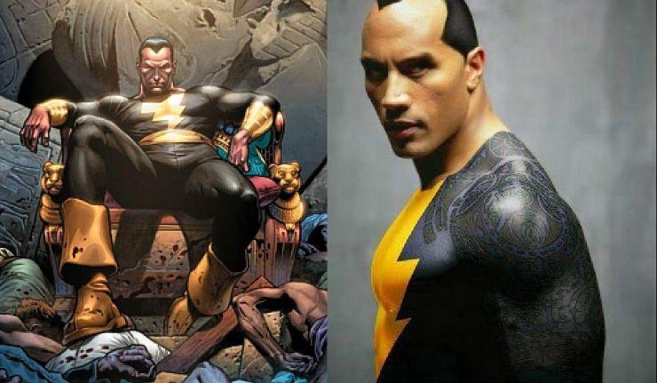 dwayne the rock johnson as black adam to fight superman dc
