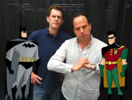 Kevin Conroy (Batman) and Loren Lester (Robin/Nightwing)